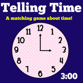 Telling Time | Kindergarten 1st 2nd 3rd Grade | Activity Game