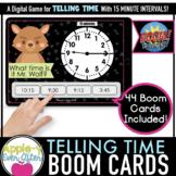 Telling Time - 15 Minute Intervals Digital Task Cards for