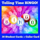 Telling Time | Kindergarten 1st 2nd 3rd Grade | BINGO Game