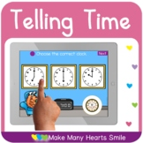 Telling Time Distance Learning Game  MHS108