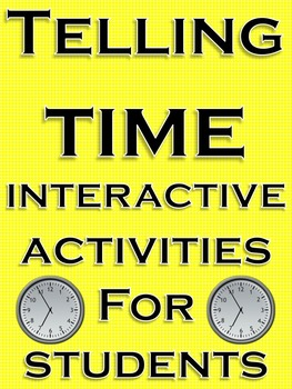 Telling Time Common Core Math Center Back to School Activities