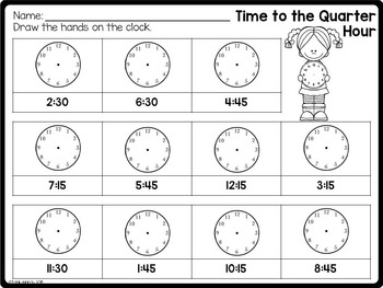 time unit telling time activities by jessica tobin elementary nest. Black Bedroom Furniture Sets. Home Design Ideas