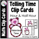 Valentine's Day Telling Time to the Hour and Half Hour