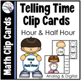 #Summer2017 Telling Time to the Half Hour Clip Cards