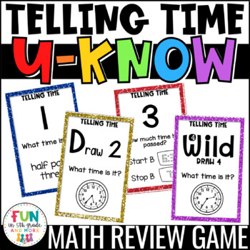 Telling Time Game for Math Centers or Stations: U-Know