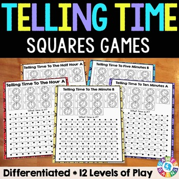 Telling Time Games (Nearest Hour, Half Hour, 15 Min, 10 Min, 5 Min, 1 Min)