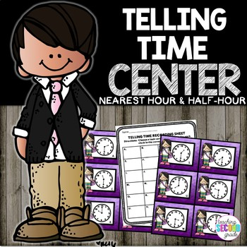 Telling Time to the Half Hour Math Center