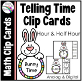 Easter Activities Easter Bunny Telling Time To The Half Ho