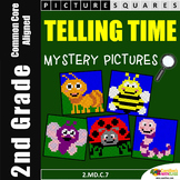 2nd Grade Telling Time To the Minute Worksheets, Mystery Pictures Activity