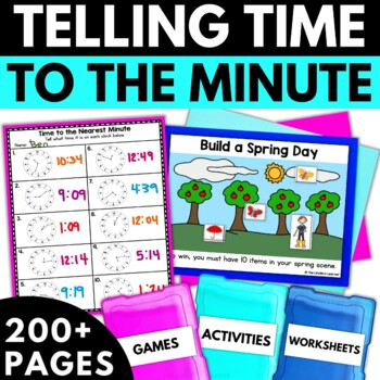 Telling Time - Time Activities Worksheets Games