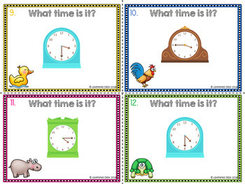 Clock Activity-Telling Time to the quarter hour
