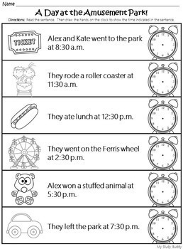Telling Time to the Hour and Half Hour (Digital & Analog Clocks) - 1st Grade