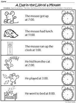 Telling Time to the Hour (Digital & Analog Clocks) - Kindergarten