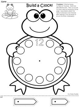 Telling Time to the Hour (Digital & Analog Clocks) - Kindergarten