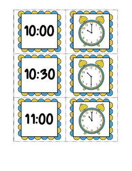 Telling Time 3 in 1 Card Game ~ 1.MD.3