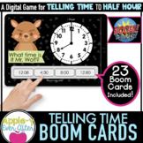 Telling Time - 30 Minute Intervals Digital Task Cards for