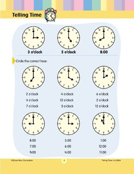 Circle the Correct Hour