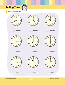 Write What Time It Is (Hour)