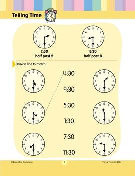 Draw a Line to Match (Half-hour)