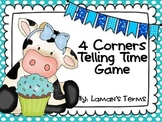Telling Time 4 Corners Math Review Game