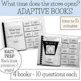 What Time- 4 adapted books, Special Ed Life Skills [to 15 min]