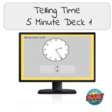 Telling Time- 5 Minute Deck 1 Boom Cards