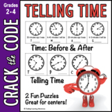 Telling Time: 5 Minute Increments - Crack the Code