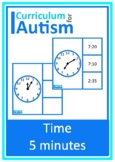 Telling Time 5 Minute Intervals Autism Special Education Life Skills