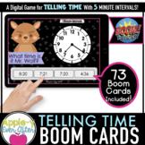 Telling Time - 5 Minute Intervals Digital Task Cards for B