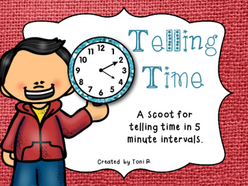 Telling Time - 5 Minute Intervals Scoot