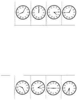 Telling Time 5 set Foldables