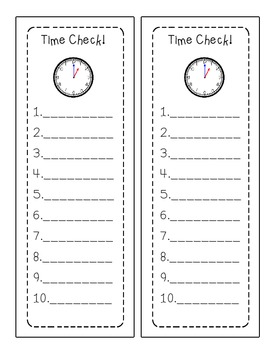 Telling Time: A quick check