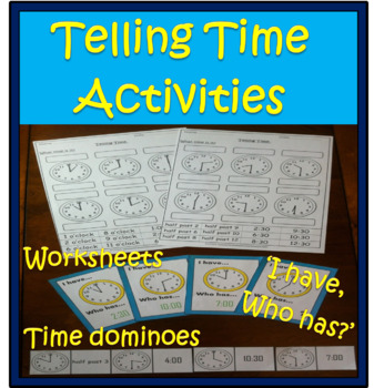 Telling Time Worksheets & Activities.
