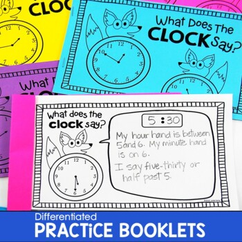 Telling Time Activities What Does The CLOCK Say?