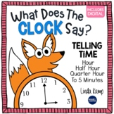 Telling Time Activities What Does The CLOCK Say? + Digital Time Games