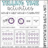Differentiated Telling Time Games, Sorts, Activities {Hour
