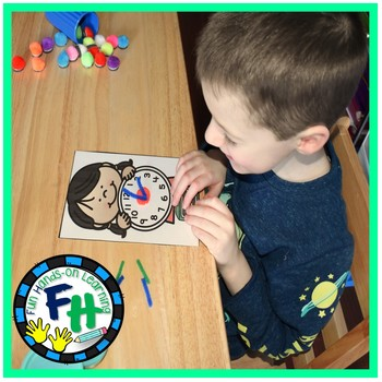 Telling Time Activity Center {Dough & Pipe Cleaners}