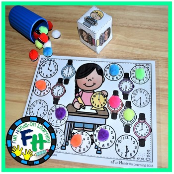 Telling Time Activity Center {Roll & Cover}
