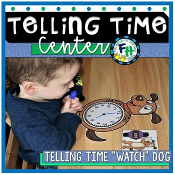 "Telling Time Activity Center {""Watch"" Dog}"