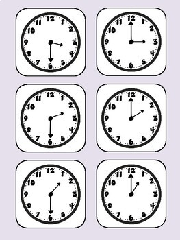 Telling Time Activity Mat (First Grade, 1.MD.3)