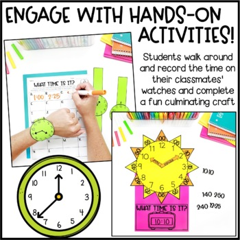 Telling Time Activities, Task Cards & Games
