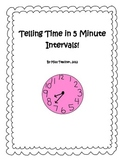 Telling Time Activity Pack - 5 minute intervals
