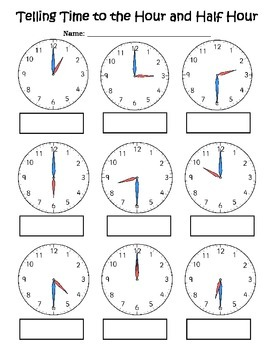 Telling Time By The Hour Worksheets For Kindergarten
