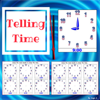 Telling Time Activity for Independence Day