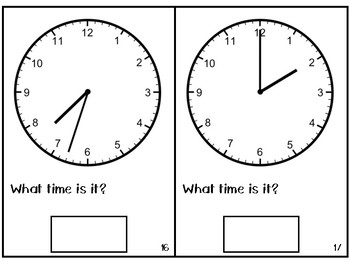 Telling Time Adapted Book