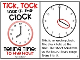 Telling Time Adapted Book - To the Hour