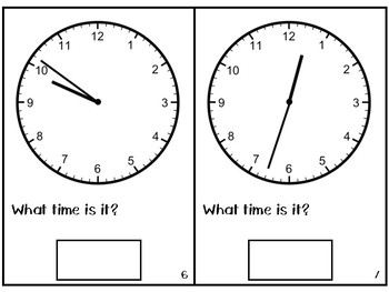 Telling Time Adapted Book - To the Minute