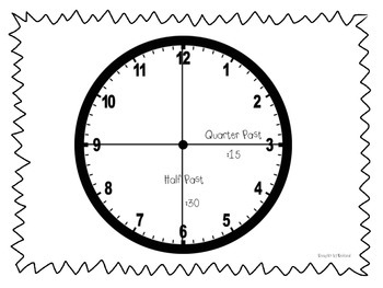 Telling Time After the Hour- Half Past & Quarter Past!