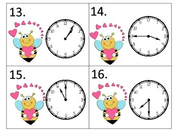 Telling Time All Through the Year---12 sets of task cards--5 minute intervals