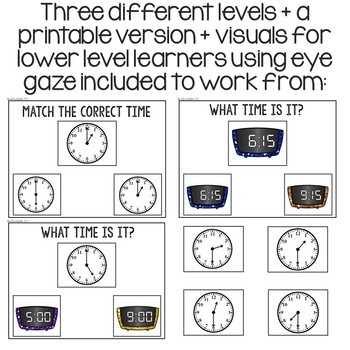 Telling Time: An Interactive Approach for Special Education